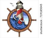vector illustration of ship...   Shutterstock .eps vector #719185045