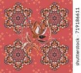 seamless tony fabric pattern....   Shutterstock . vector #719186611