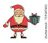 santa claus christmas related... | Shutterstock .eps vector #719187601