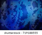 light blue  green vector doodle ... | Shutterstock .eps vector #719188555