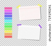 collection of tapes. school...   Shutterstock .eps vector #719190241