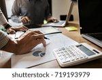 business executives team... | Shutterstock . vector #719193979