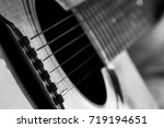 Acoustic Guitar In Black And...