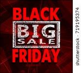 black friday sale background ... | Shutterstock .eps vector #719195374