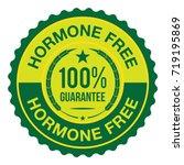 hormone free badge | Shutterstock .eps vector #719195869