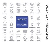 line icons set. security pack.... | Shutterstock .eps vector #719195965