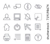 different  universal icons for...