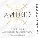 perfecto typeface. elegant... | Shutterstock .eps vector #719199124