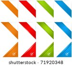 web page corner ribbons | Shutterstock .eps vector #71920348