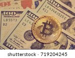 Stock photo golden bitcoin conceptual image for crypto currency 719204245