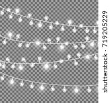 garlands with round bulbs on... | Shutterstock . vector #719205229