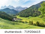 st johann chesurch  santa... | Shutterstock . vector #719206615
