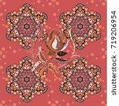 flat flower elements design.... | Shutterstock .eps vector #719206954