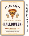 colorful halloween celebration... | Shutterstock .eps vector #719207311