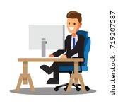 businessman character design... | Shutterstock .eps vector #719207587