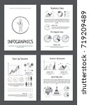 infographics with statistics... | Shutterstock .eps vector #719209489