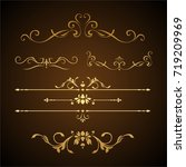 calligraphic design elements | Shutterstock .eps vector #719209969