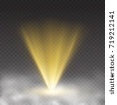 light laser effect in fog... | Shutterstock .eps vector #719212141