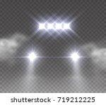 headlights offroad effect front ... | Shutterstock .eps vector #719212225