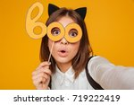 close up portrait of a pretty... | Shutterstock . vector #719222419