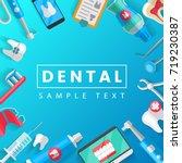 dental banner background... | Shutterstock .eps vector #719230387