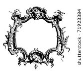 frame in rococo style | Shutterstock .eps vector #71923384