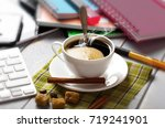 coffee in a composition with... | Shutterstock . vector #719241901