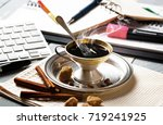 coffee in a composition with... | Shutterstock . vector #719241925
