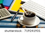 coffee in a composition with... | Shutterstock . vector #719241931