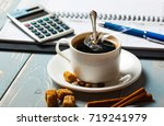coffee in a composition with... | Shutterstock . vector #719241979