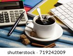 coffee in a composition with... | Shutterstock . vector #719242009