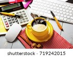 coffee in a composition with... | Shutterstock . vector #719242015