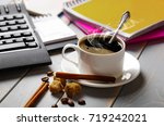 coffee in a composition with... | Shutterstock . vector #719242021