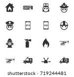 emergency icon set   Shutterstock .eps vector #719244481