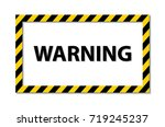 yellow and black stripes on the ... | Shutterstock .eps vector #719245237