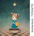 conceptual illustration for ... | Shutterstock . vector #719246755