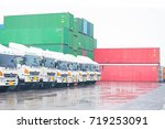 container depot service... | Shutterstock . vector #719253091