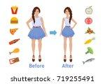 the influence of diet on the... | Shutterstock .eps vector #719255491