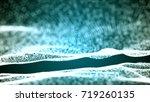 blue abstract 3d field...   Shutterstock . vector #719260135