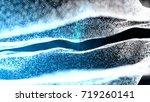 blue abstract 3d field...   Shutterstock . vector #719260141