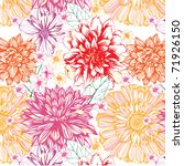 seamless floral pattern | Shutterstock .eps vector #71926150