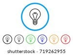 hint lamp rounded icon. style... | Shutterstock .eps vector #719262955