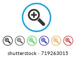 zoom in rounded icon. style is...   Shutterstock .eps vector #719263015