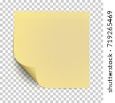 office yellow paper sticker... | Shutterstock .eps vector #719265469