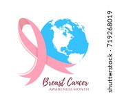 abstract breast cancer design.... | Shutterstock .eps vector #719268019