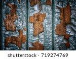 rustic wood texture with...   Shutterstock . vector #719274769