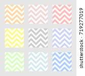 set of colorful chevron... | Shutterstock .eps vector #719277019