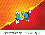 fight backgrounds comics style... | Shutterstock .eps vector #719281531