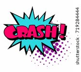 cartoon  crash explosion comic... | Shutterstock .eps vector #719284444