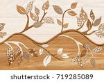 abstract home decorative art... | Shutterstock . vector #719285089